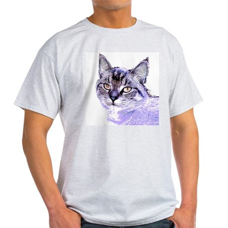 Purple Cat Ash Grey T-Shirt