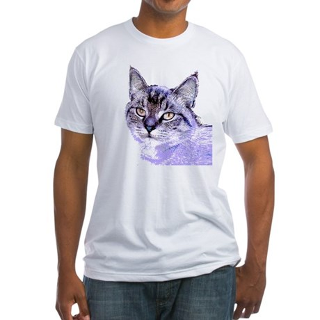 Purple Cat Fitted T-Shirt