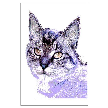 Purple Cat Large Poster