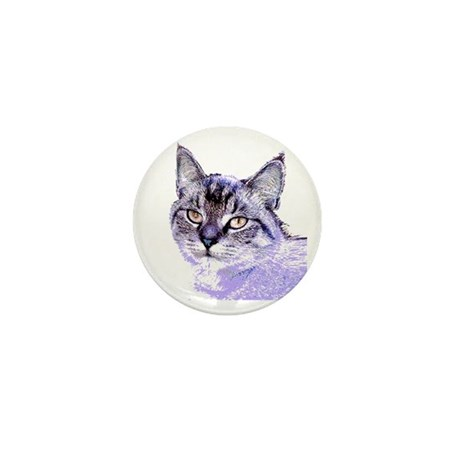 Purple Cat Mini Button (100 pack)