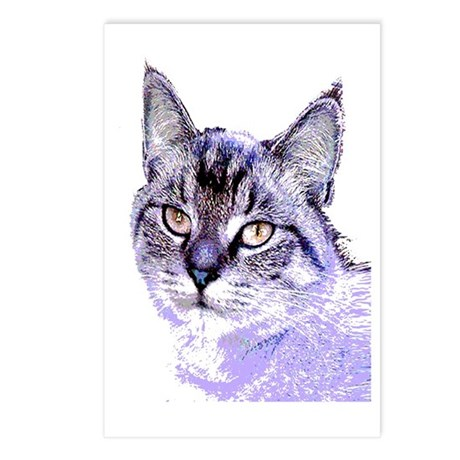 Purple Cat Postcards (Package of 8)