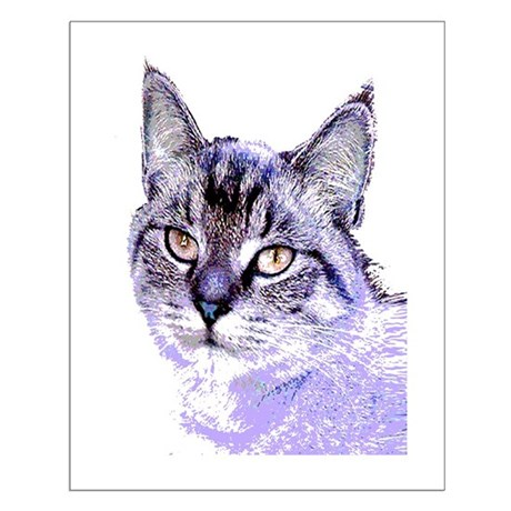 Purple Cat Small Poster