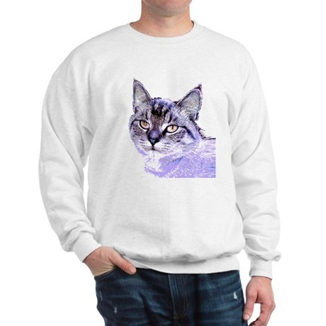Purple Cat Sweatshirt