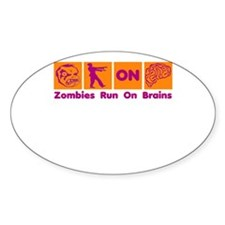 Funny Zombies Dunkin Donuts Sticker (Oval)
