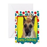 Birthday Cupcake - Great Dane Greeting Card