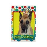Birthday Cupcake - Great Dane Rectangle Magnet (10