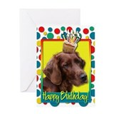 Birthday Cupcake - Irish Setter Greeting Card