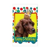 Birthday Cupcake - Irish Setter Decal