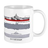 USS Intrepid CV-11 CVA-11 CVS-11 Small Mug