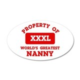 Property of Nanny 38.5 x 24.5 Oval Wall Peel