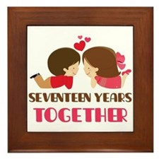 17 Years Together Anniversary Framed Tile