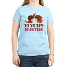 19 Years Together Anniversary T-Shirt