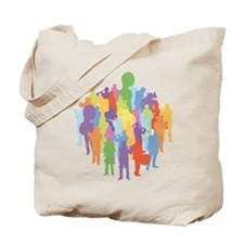 Marching Band Music Collage Tote Bag