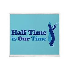 Band Half Time Throw Blanket