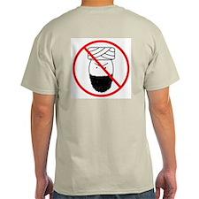 No Terrorism Ash Grey T-Shirt