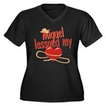 Miguel Lassoed My Heart Women's Plus Size V-Neck D