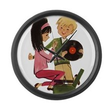 Vinyl Records Love Large Wall Clock