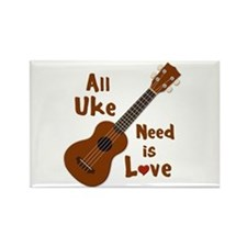 All Uke Need Is Love Rectangle Magnet
