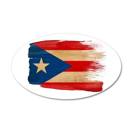 Puerto Rico Flag 38.5 x 24.5 Oval Wall Peel