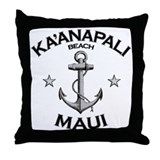 Ka'anapali Beach, Maui Throw Pillow