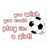 Play Soccer Like a Girl Postcards (Package of 8)