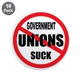 "GREEDY UNIONS 3.5"" Button (10 pack)"