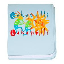 Colorful Kokopelli baby blanket
