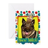 Invitation Cupcake - Vallhund Greeting Cards (Pk o