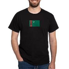 Turkmenistan Black T-Shirt