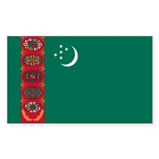 Turkmenistan Rectangle Decal