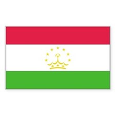 Tajikistan Rectangle Decal
