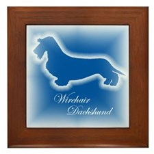 Wirehair Dachshund Framed Tile