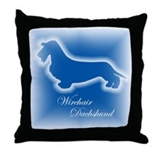 Wirehair Dachshund Throw Pillow