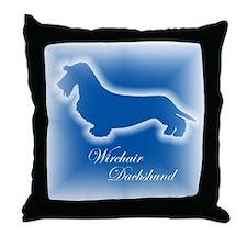 Wirehair Dachshund Throw Pillow