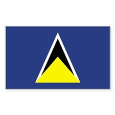 St Lucia Rectangle Decal