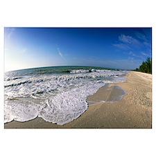 Ocean Waves on Beach Sanibel Island FL