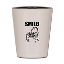 Vintage Camera Smile Shot Glass