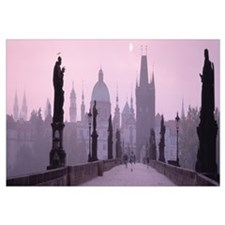Charles Bridge and Spires of Old Town Prague Czech