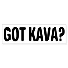 Got Kava 12x12c Bumper Bumper Sticker