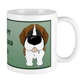St. Bernard Dad Small Mugs