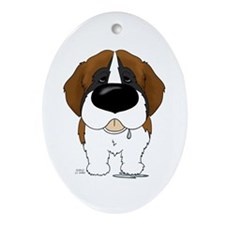 Big Nose St. Bernard Ornament (Oval)