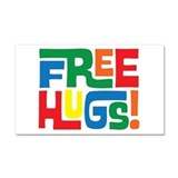 FREE Hugs!! Car Magnet 20 x 12