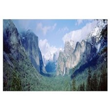 Bridal Veil Falls El Capitan Yosemite National Par