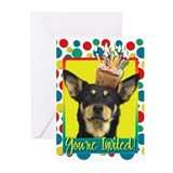 Invitation Cupcake - Kelpie Greeting Cards (Pk of