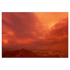 Thunderstorm at Sunset South Mountain Park Phoenix