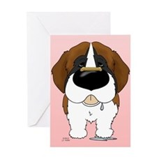 St. Bernard Valentine Greeting Card