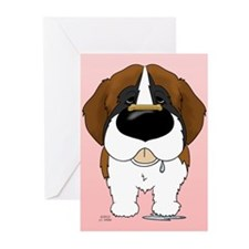 St. Bernard Valentine Greeting Cards (Pk of 10)