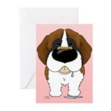 St. Bernard Valentine Greeting Cards (Pk of 20)