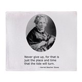 Harriet Beecher Stowe Throw Blanket