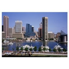 Maryland, Baltimore, Inner Harbor, Skyline